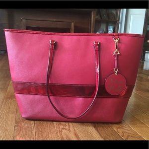 Draper James Raspberry Red Tote Bag